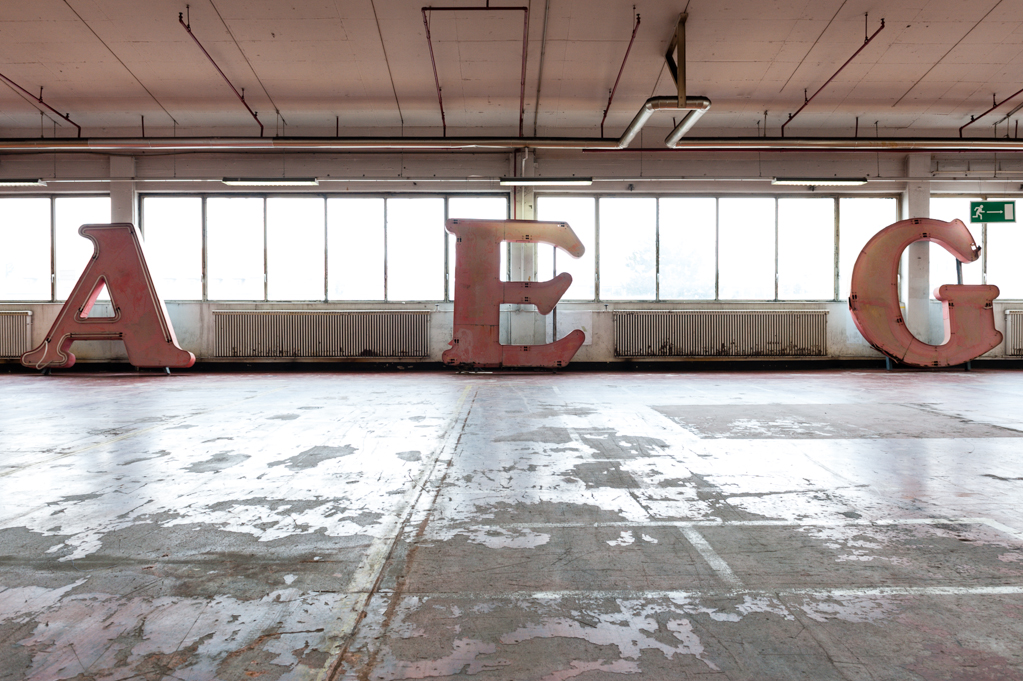 Auf dem ehemaligen AEG-Gelände finden Kunst- und Kulturveranstaltungen statt.