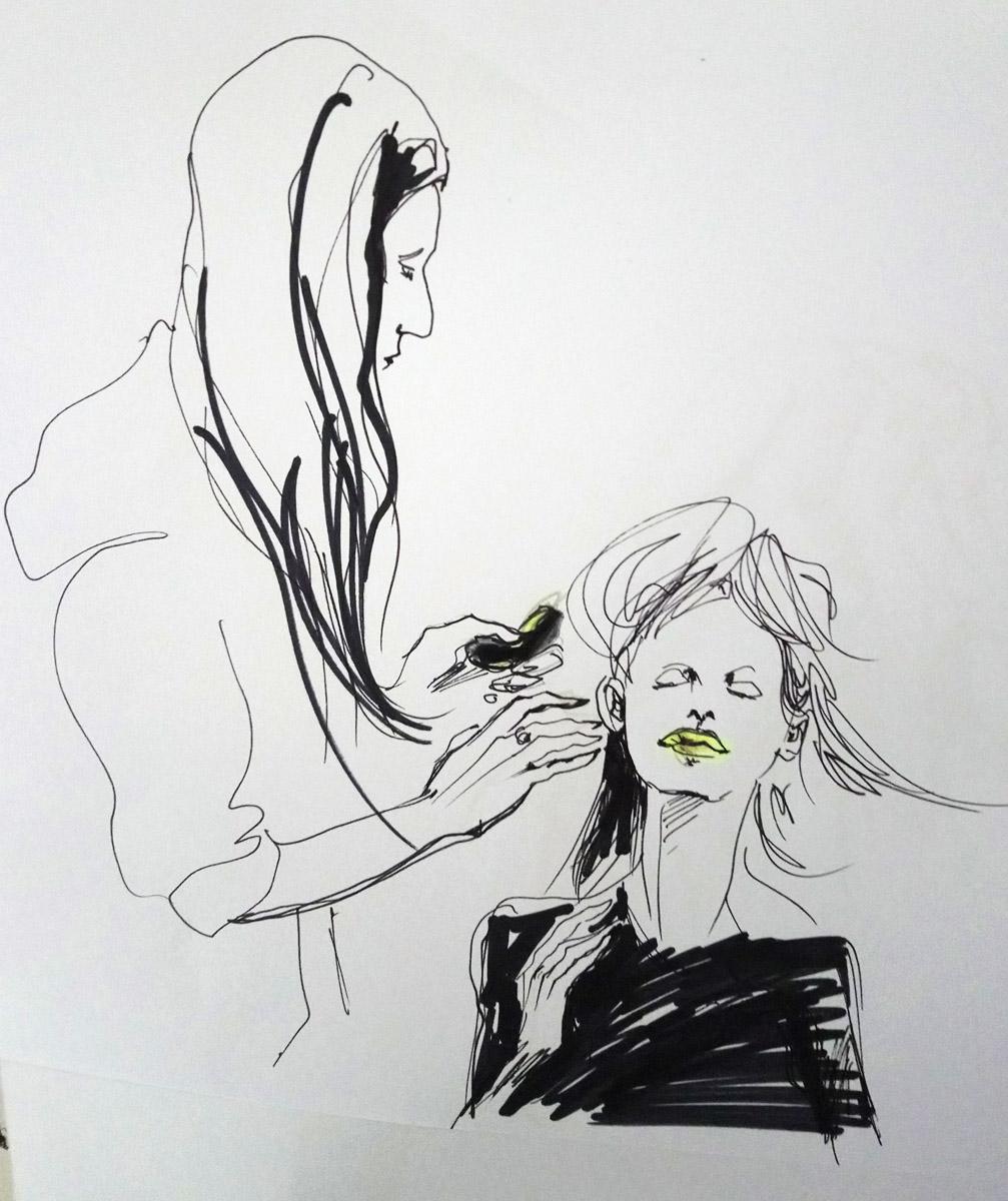 Model Ana Laura with Hair Stylist Tim Furssedonn